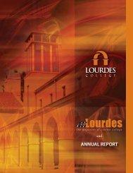 ANNUAL REPORT - Lourdes College in Sylvania, Ohio