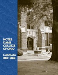 Untitled - Notre Dame College