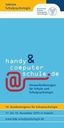handy computer schule.de - Sektion Schulpsychologie