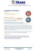 Seminar- bzw. Schulungsinhalte - Seite 2