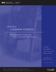 Creating Common Purpose - Publications du gouvernement du ...