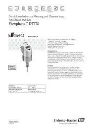 Flowphant T DTT31 - E-direct  Shop Endress+Hauser Deutschland