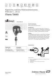 iTherm TM401 - E-direct Shop Endress+Hauser Deutschland