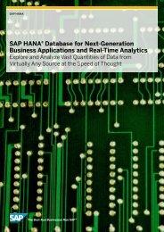 SAP HANA® Database for Next-Generation Business ... - SAP.com
