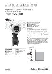 Proline Promag 10D - E-direct Shop Endress+Hauser Deutschland