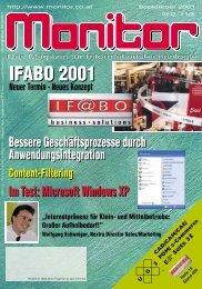 Die komplette MONITOR-Ausgabe 9/2001 können Sie