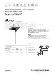 Easytemp TSM487 - E-direct Shop Endress+Hauser Deutschland