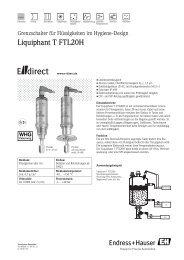 Liquiphant T FTL20H - E-direct Shop Endress+Hauser Deutschland