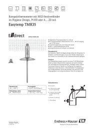 Easytemp TMR35 - E-direct Shop Endress+Hauser Deutschland