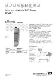RN221N - E-direct Shop Endress+Hauser Deutschland