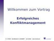 Vortrag zum Thema Konfliktmanagement von Kurt Schaffner