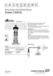 Cerabar T PMP135 - E-direct Shop Endress+Hauser Deutschland