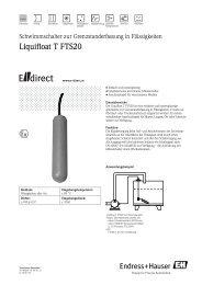 Liquifloat T FTS20  - E-direct Shop Endress+Hauser Deutschland