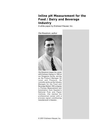 Inline pH Measurement for the Food / Dairy and ... - Endress+Hauser