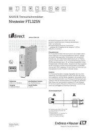 Nivotester FTL325N -  E-direct Shop Endress+Hauser Deutschland