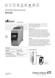 RMA42 - CH (PDF 355,0 kB) - E-direct Shop Endress+Hauser ...