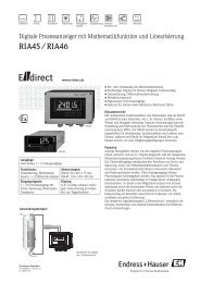 RIA45 / RIA46 - E-direct Shop Endress+Hauser Deutschland