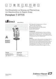 Flowphant T DTT35 - E-direct Shop Endress+Hauser Deutschland