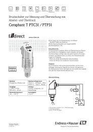 Ceraphant T PTC31 / PTP31 - E-direct Shop Endress+Hauser ...