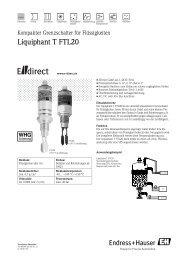 Liquiphant T FTL20 - E-direct Shop Endress+Hauser Deutschland