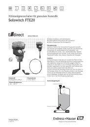 Soliswitch FTE20 - E-direct Shop Endress+Hauser Deutschland
