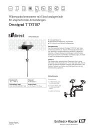 Omnigrad T TST187 - E-direct Shop Endress+Hauser Deutschland