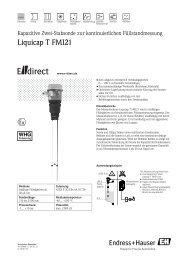 Liquicap T FMI21 - DE - E-direct Shop Endress+Hauser Deutschland