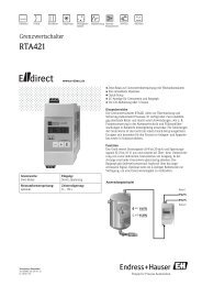 RTA421 - E-direct Shop Endress+Hauser Deutschland