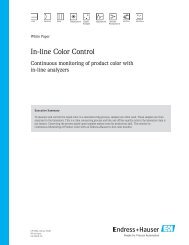 CP 000A in line color control.indd - Endress+Hauser