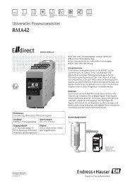 RMA42 - AT (PDF  390,0 kB) - E-direct Shop Endress+Hauser ...