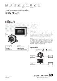 RIA14 / RIA16 - E-direct Shop Endress+Hauser Deutschland