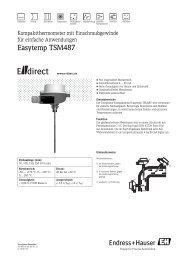 Easytemp TSM487 - CH - E-direct Shop Endress+Hauser Deutschland