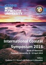 morphological impact on a sandy beach - 12th International Coastal ...