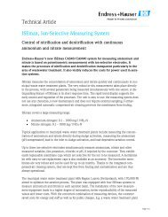 Technical Article ISEmax, Ion-Selective ... - Endress+Hauser