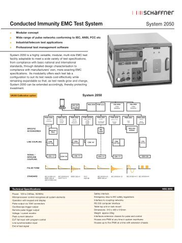 Conducted Immunity EMC Test System - Astat