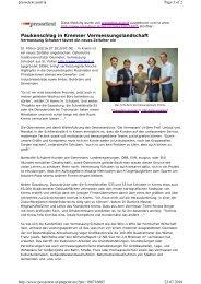 Lesen Sie hier den Artikel von Pressetext Austria - Vermessung ...