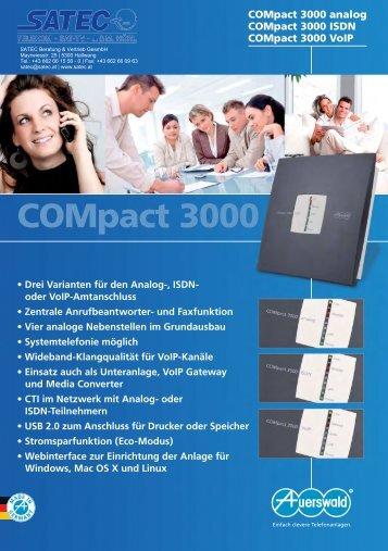 oder VoIP-Amtanschluss • Zentrale Anrufbeantworter- und ... - SATEC