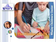 2011 Annual Report - Whaley Children's Center