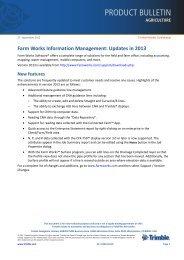 Updates in 2013 - Farm Works Software