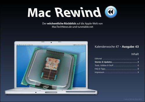 Mac Rewind - Issue 43, KW47 - MacTechNews.de - Mac Rewind