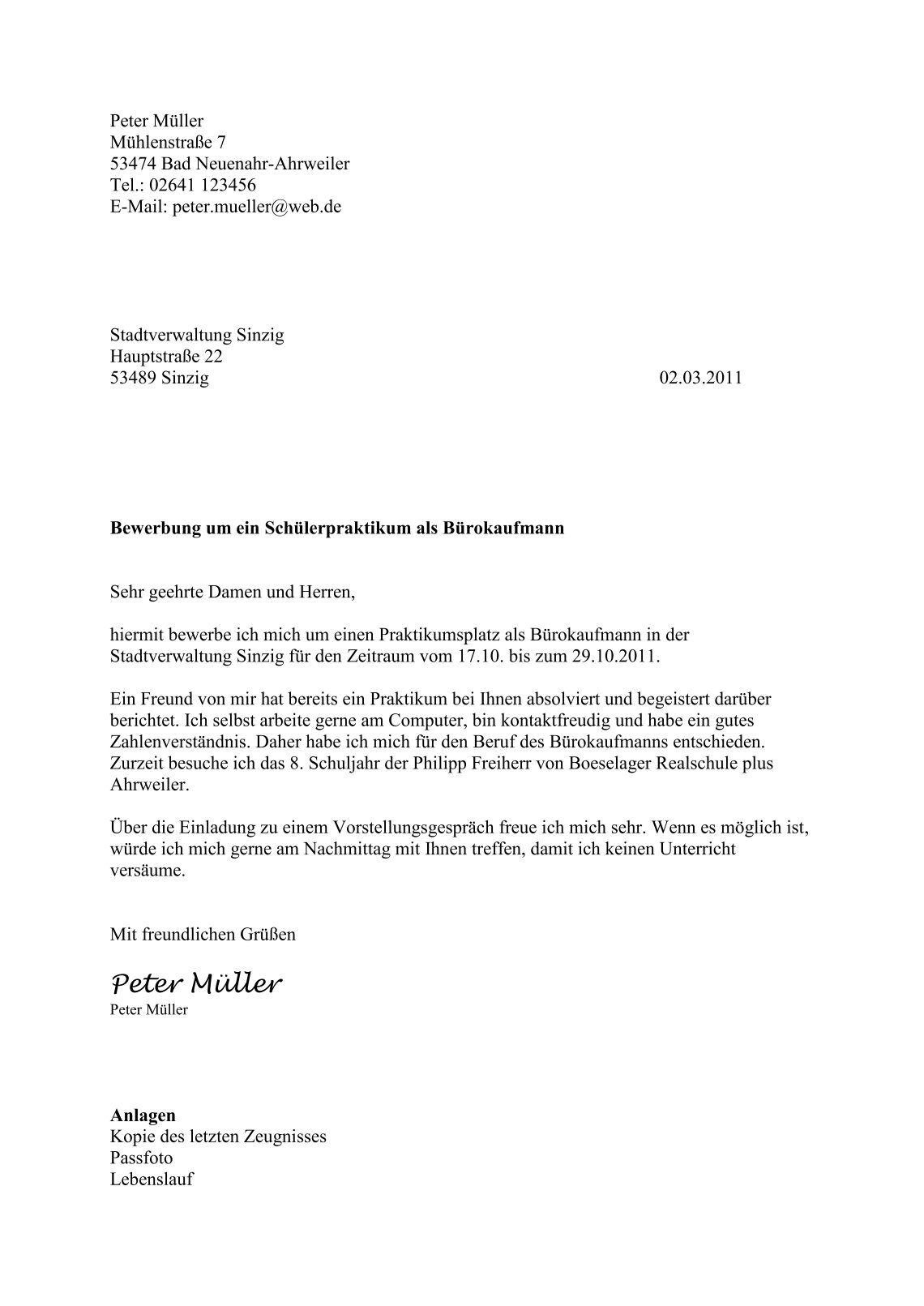 Atemberaubend Praktikumserfahrung Im Lebenslauf Schreiben ...