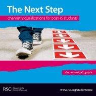 The Next Step - Royal Society of Chemistry