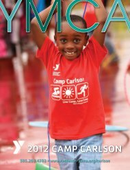 2012 Camp Carlson Registration - YMCA of Greater Rochester
