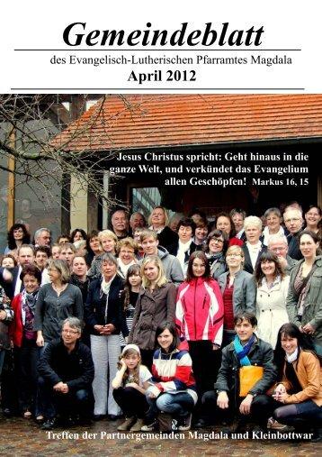 Aus der Gemeinde - Kirchspiel Magdala/Bucha