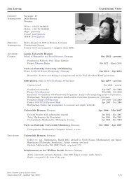 Jan Lorenz Curriculum Vitae