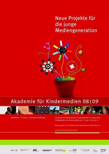 Die Akademie für Kindermedien 08/09 im Überblick