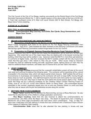 City Council Minutes - City of Fort Bragg, Ca. - Fort Bragg
