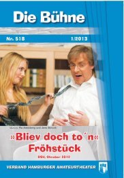 Bühne 2013.1_Nr.518 - Verband Hamburger Amateurtheater eV