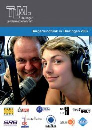 Bürgerrundfunk in Thüringen 2007 - Thüringer Landesmedienanstalt