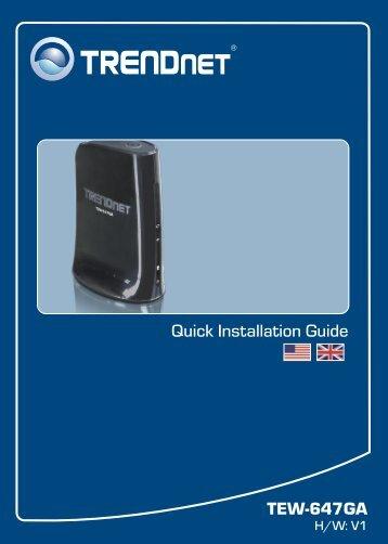 TEW-647GA Quick Installation Guide - TRENDnet